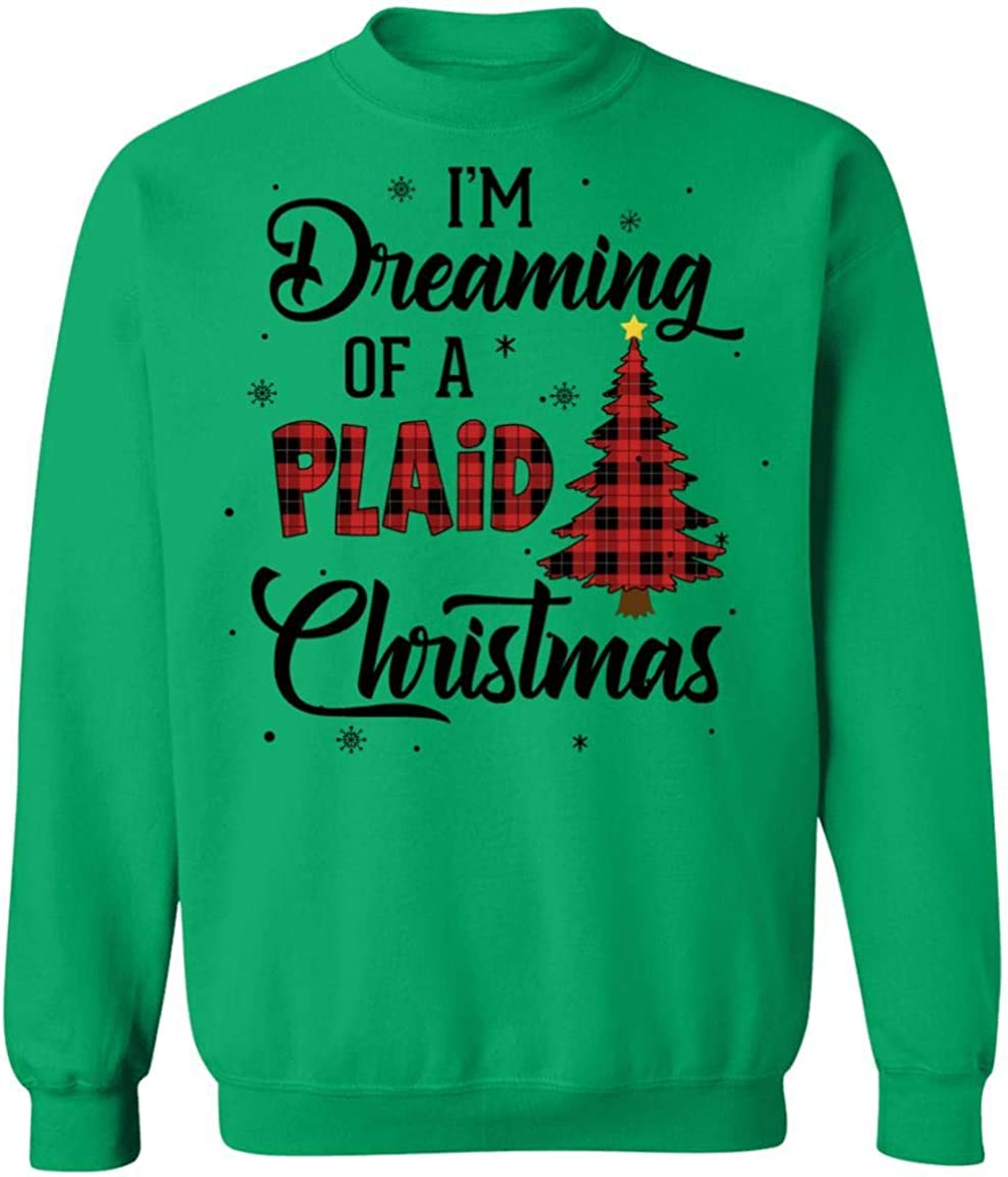 VintageTee Max 49% OFF I'm Dreaming of A Buffalo Plaid All items in the store Christmas Xmas