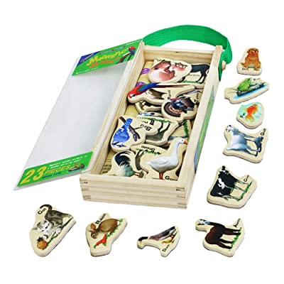 Wooden Magnetic Puzzle Animal Farm Theme Sticke...
