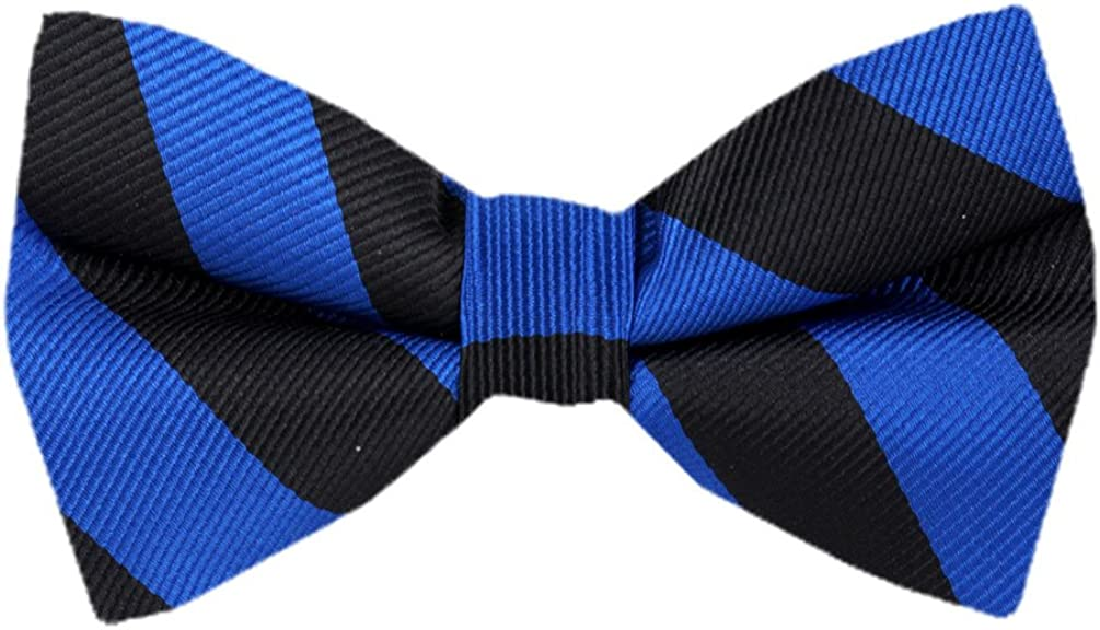 Men's College Repp Stripe Pre-tied Bow Tie Many Colors