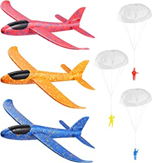 NUOBESTY Airplane Toys,Manual Foam Planes,Glider Planes For Kids,Flying Toy For Kids,Throwing Games Outdoor Sports Toy,Par...