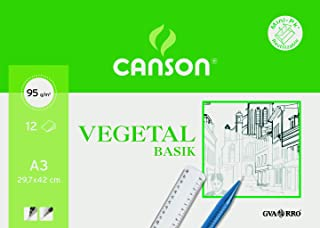 Canson 400787 - Papel Vegetal, 12 Hojas