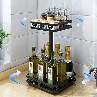 YunNasi Étagère à épices 306° Rotative Multifonction pour Le Rangement de La Cuisine Présentoir à Épices en Acier Inoxydab...