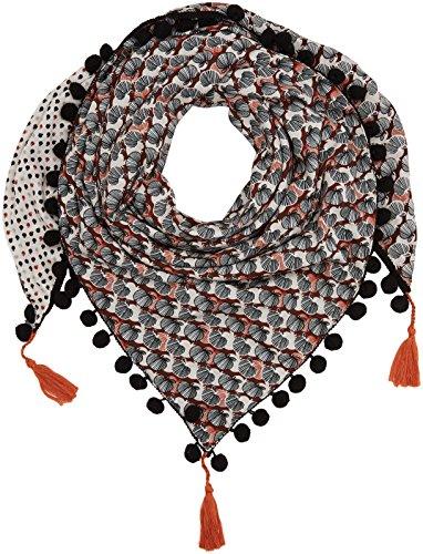 TAIFUN dames mousse au chocolade sjaal, bruin (cognac druk 7006), één maat (fabrikantmaat: 99)