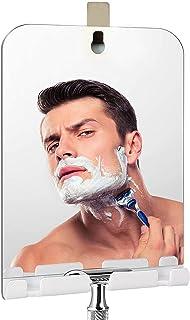 Fogless Shower Mirror, Includes 1 Adhesive Hooks, Anit-Fog Shower Mirror, Shower Makeup Shave Mirror, Frameless Shower Mir...