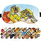 Sleep Mask Masterpieses for Men Teens - 100% Soft Cotton - Comfortable Eye Sleeping Mask Night Cover Blindfoldfor Travel Airplane (Dream Caused Dali, Plastic Pack)