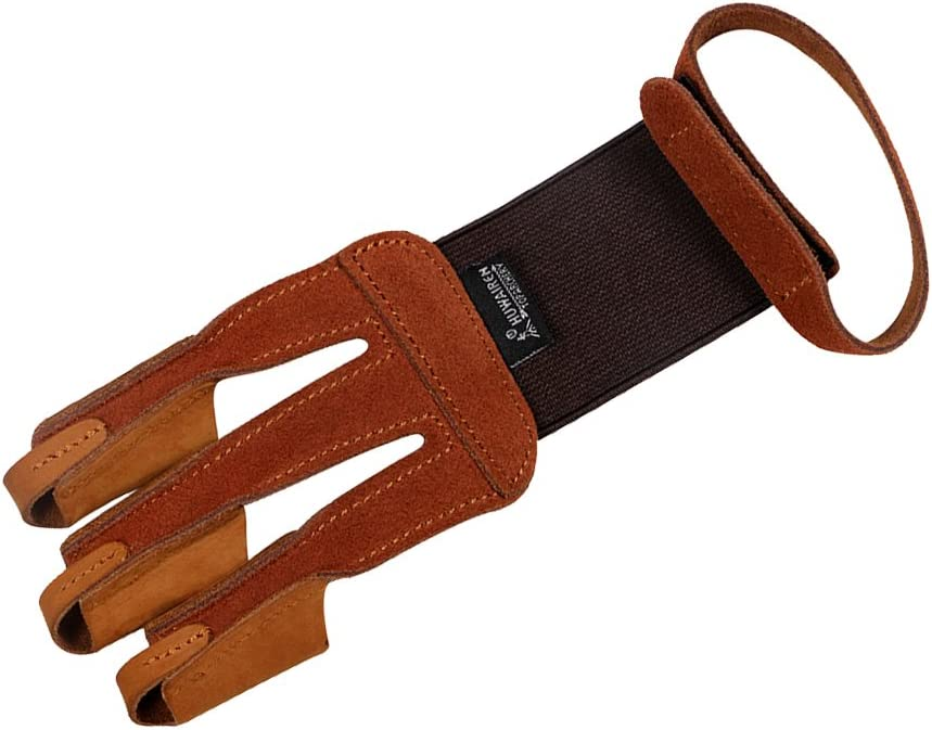 LEIPUPA Deluxe Archery Now free shipping Gloves 3 Finger Leather A Protective Recurve Bow