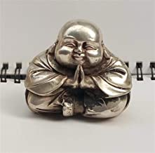 PPCP Copper Statue Chinese Tibet Silver Carved Happy Buddha Figurine