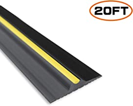 Garage Door Seals Bottom Rubber - 20 Feet Floor Threshold Seal Strip for Universal Garage - Heavy Duty Weather Stripping Insulation Kit - 3/4 Inch Thick (Not Include Adhesive/Sealant)