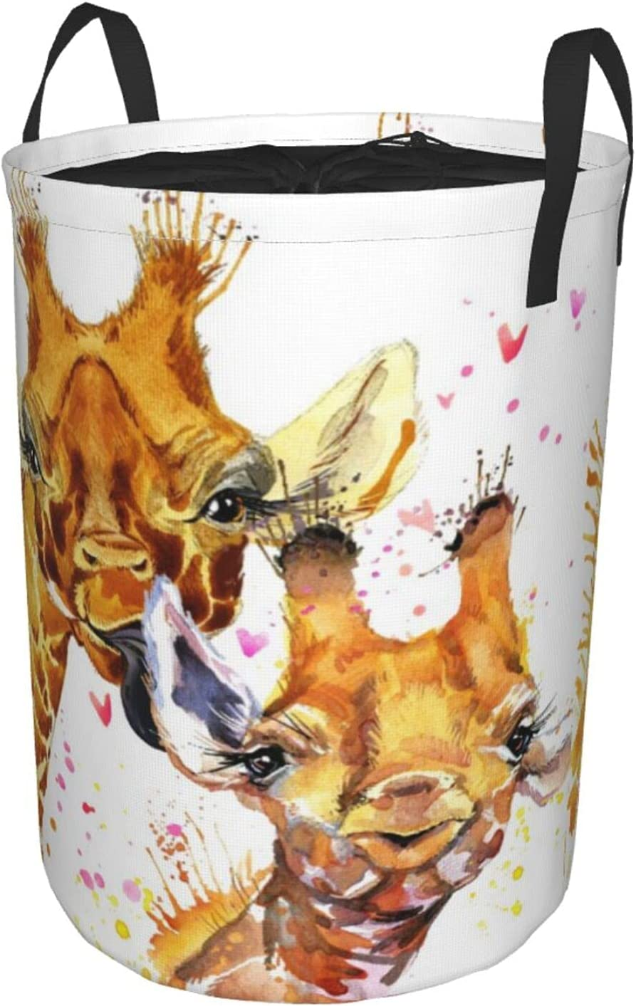 Janrely Large Washing Clothes Hamper Giraffe depot for Household Cute sold out