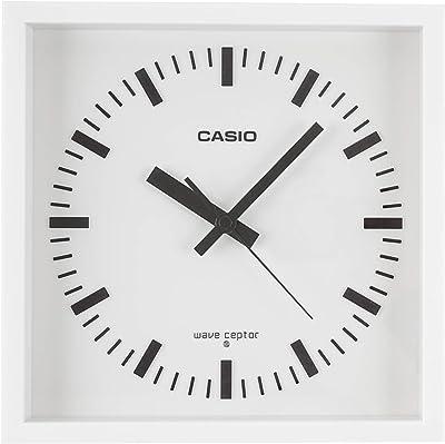 CASIO(カシオ) 掛け時計 電波 アナログ ウェーブセプター 置き掛け兼用 ホワイト IQ-810J-7JF