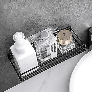 【値下げセール!】浴室ラック バスルームラック お風呂ラック 台所収納ラック お洒落 強力粘着固定 (黒)