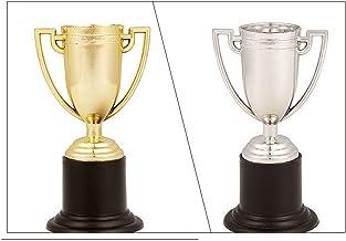Plastic Winnaars Trofeeën - Gouden Bekers Trofee Winnaar Beloning Prijzen Speelgoed voor School Sportdag of Mini Olympisch...