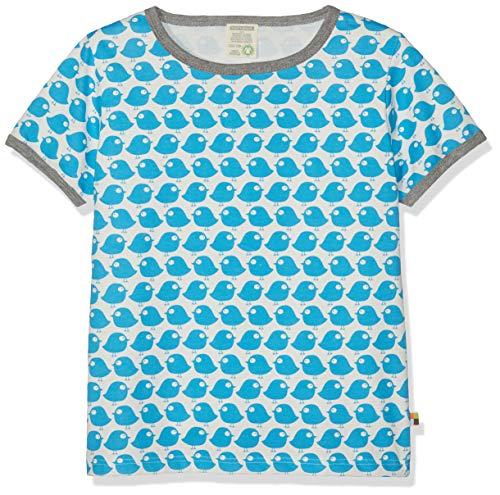 loud + proud Baby-Unisex Bio Baumwolle, GOTS Zertifiziert T-Shirt, Blau (Petrol Pe), (Herstellergröße: 122/128)