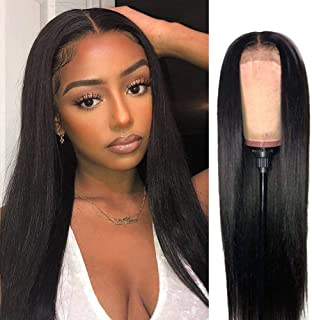 VSHOW Straight Lace Front Wigs Human Hair Pre Plucked with Baby Hair for Black Women 150% Density 13x4 Virgin Remy Human H...