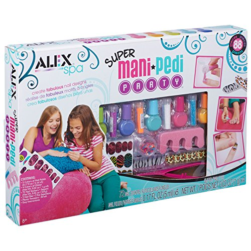 Alex Spa Super Mani Pedi Party Kit Girls Fashion Activity