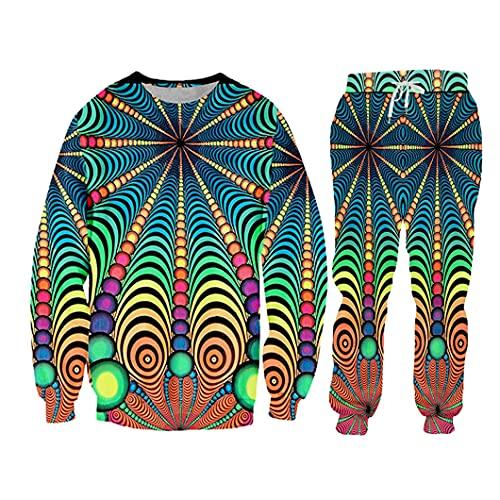 Traje de chándal con Capucha Impreso Completo 3D Pantalones de Juego de 2 Piezas de Hombre SWPA06861 L