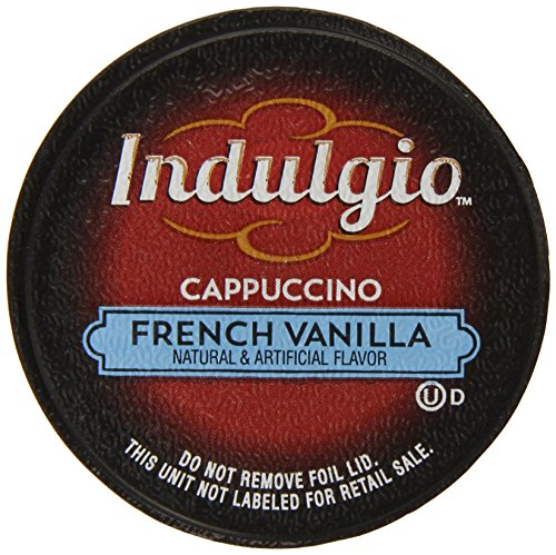Indulgio Cappuccino, French Vanilla, 12-Count Single Serve Cup for Keurig K-Cup Brewers