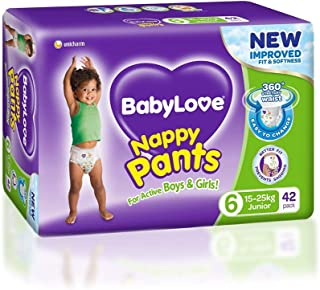 BabyLove Junior Nappy Pants 15-25kg (22 pack x 3, 66 Total)