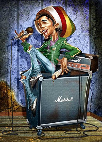 Feeling at home Kunstdruck-auf-Papier-cm_116_X_83-Alvez-A.-Perez-A.-Humor-Bild-Poster-Rastafari-Reggae-Verstärker