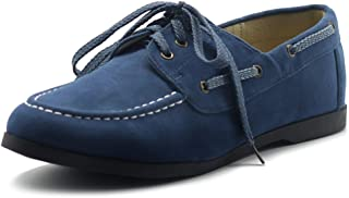 Women's Faux Leather Lace Up Boat Shoes Slip On Loafers
