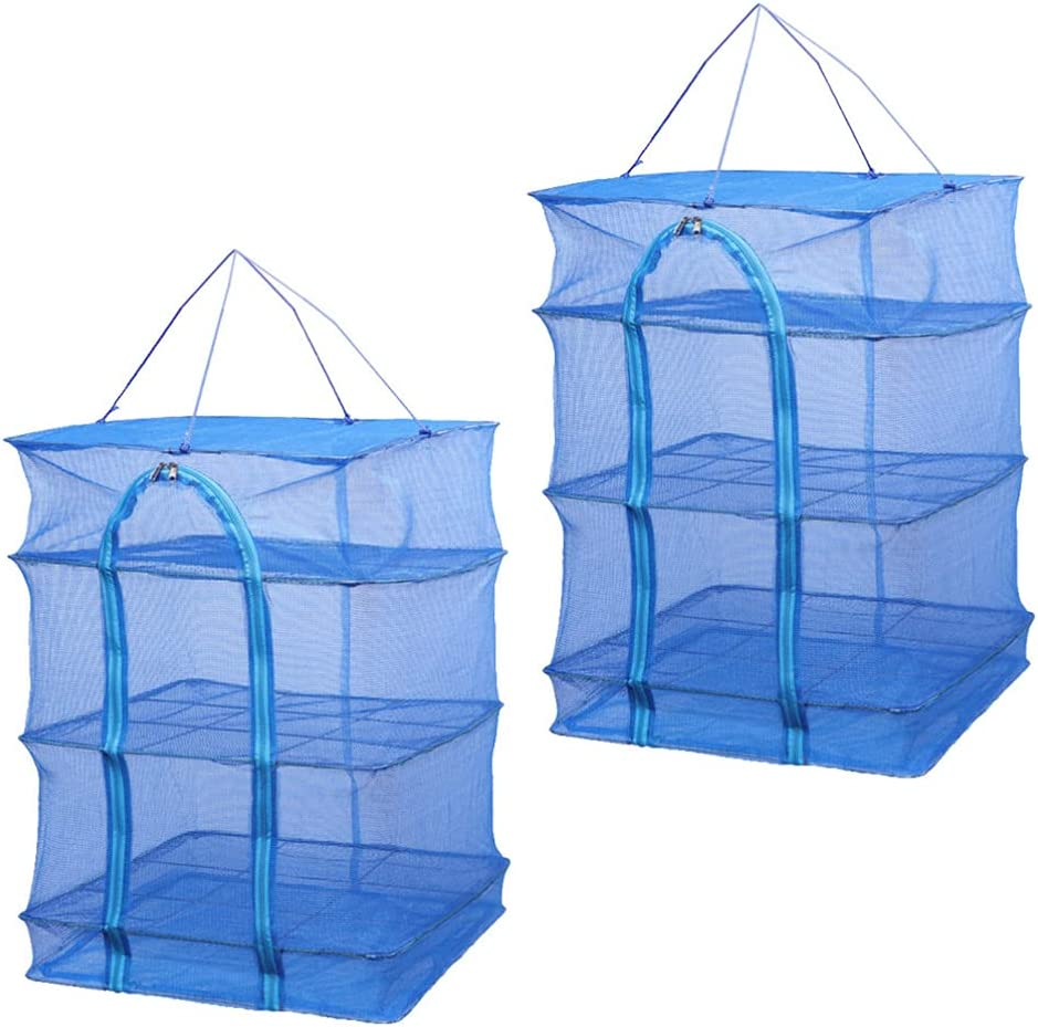 BESPORTBLE 2Pcs Herb Drying Rack Finally popular brand Net Fish Quality inspection Dis Layer 3- Vegetable
