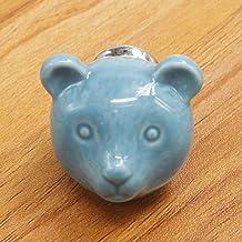 Furniture Handle Ceramic gevormde handgreep Bears Retro Chic kast lade handvat zodat Kasten Drawers (Kleur: Blauw, Maat: 3...