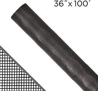 "ADFORS Standard Window Screen, 36 "" x 100', Charcoal"