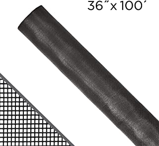 ADFORS 36 in. x 100 ft. DIY Fiberglass Window Screen Replacement || Screen Door || Screen Repair Kit || Adjustable Window Screen || Bug Screen || Screen Mesh || Insect Screen Material || Charcoal