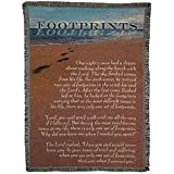 Dicksons Footprints in The Sand Ocean Tide 52 x 68 All Cotton Tapestry Throw Blanket