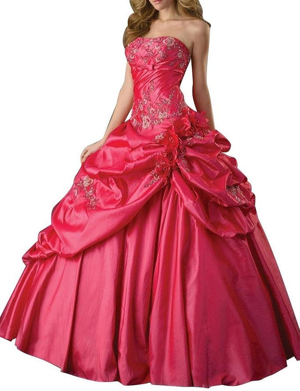 Dearta Women's Ball Gown Strapless Sleeveless FloorLength Quinceanera Dresses