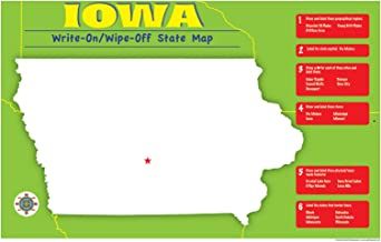 Iowa Write-On/Wipe-Off Desk Mat - State Map (Iowa Experience)