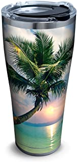 Tervis Sunset In Paradise Stainless Steel Tumbler with Clear and Black Hammer Lid 30oz, Silver