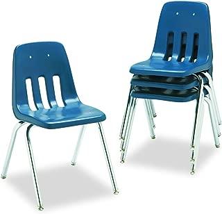 Virco Student Chair, Navy, Soft Plastic Shell, 18