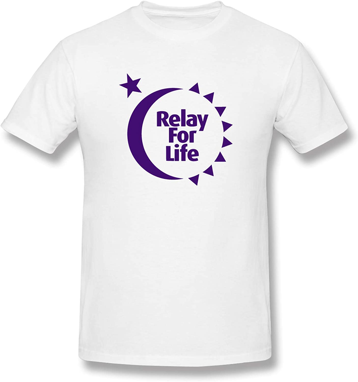 Relay for Life Men's T-Shirts Short-Sleeve Crew Neck T Classic Henley Shirts Casual Shirt