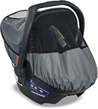 Best Britax B-Covered All-Weather Infant Car Seat Cover with UPF 50+ | Waterproof Rain and Wind Shield + Ventilated Mesh Window for Insect Protection Review