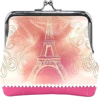 11.5X10.5 Cm Tour Eiffel Porte-Monnaie Boucle Porte-Monnaie Vintage Pochette Fashion Porte-Cartes en Cuir pour Femmes Filles Ados Enfants