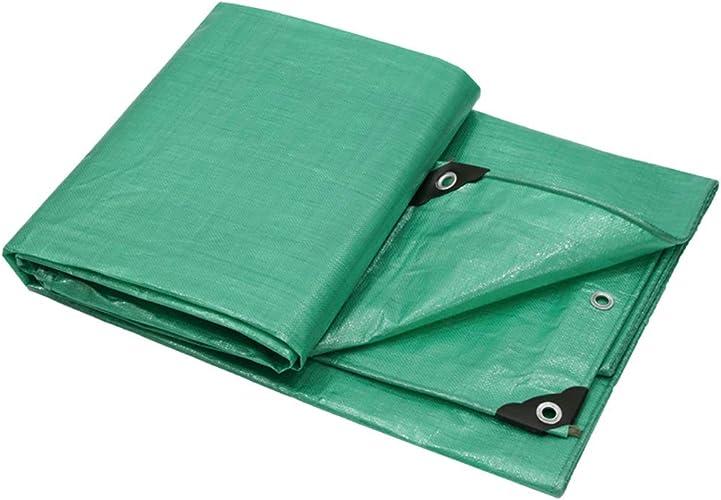Tarpaulin HUO épaississez la bache imperméable de Toile de bache de Prougeection Solaire de Tissu imperméable extérieur - Multi-Taille facultatif (Taille   3  6m)