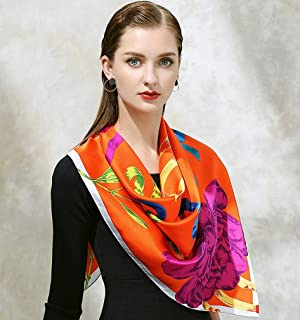 100% Twill Silk Women Scarf EUR Fashion Stroll Paris Print Square Scarves Wraps Headband Brand Gift Large Luxury Shawl Hijab,D