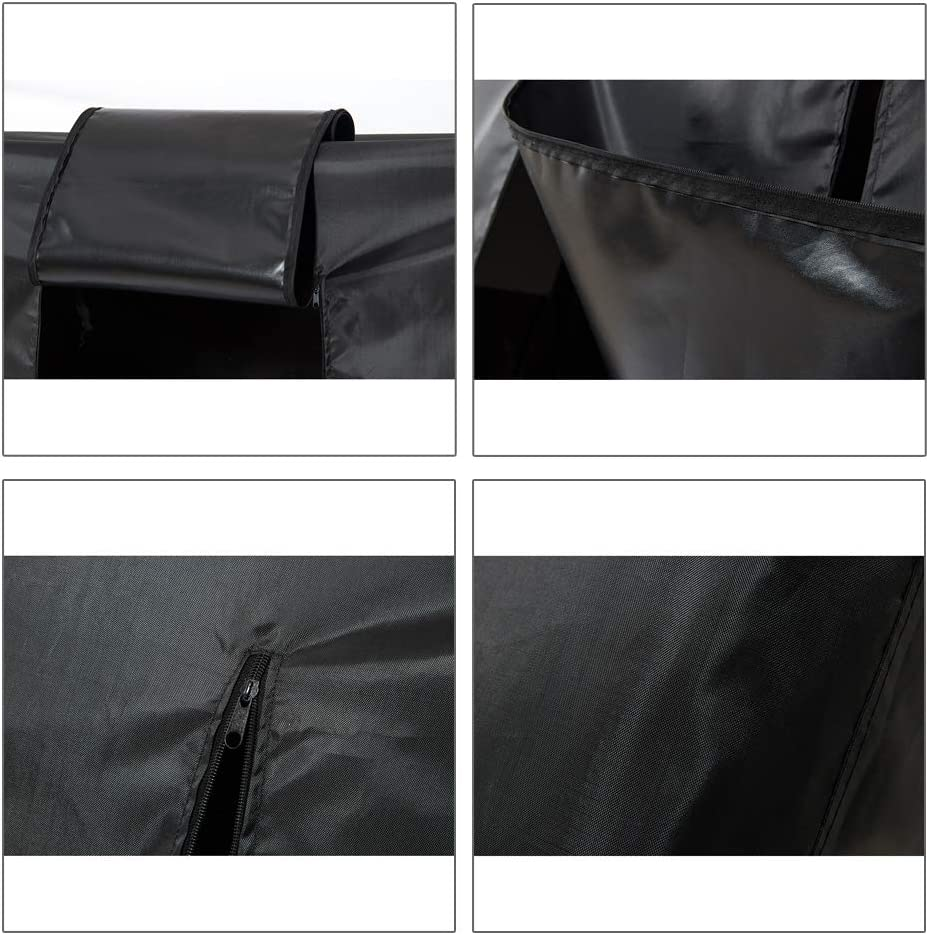 QEES Clothes Rack Cover Heavy Duty Dustproof Waterproof Garment Rack Cover with 2 Full Strong Zipper Black Wardrobe Rack Cover for Dance Costumes Dress 59 Garment Bags for Storage Suits YFZ41