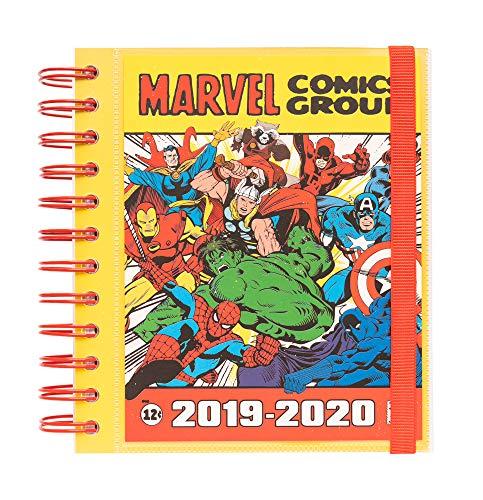 Agenda escolar 2019/2020 día página M Marvel