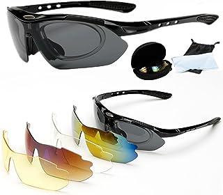2057d6e3bf Wondder Gafas de Ciclismo 5 Lente de la Bicicleta Ciclismo Gafas de Sol  Deportes al Aire