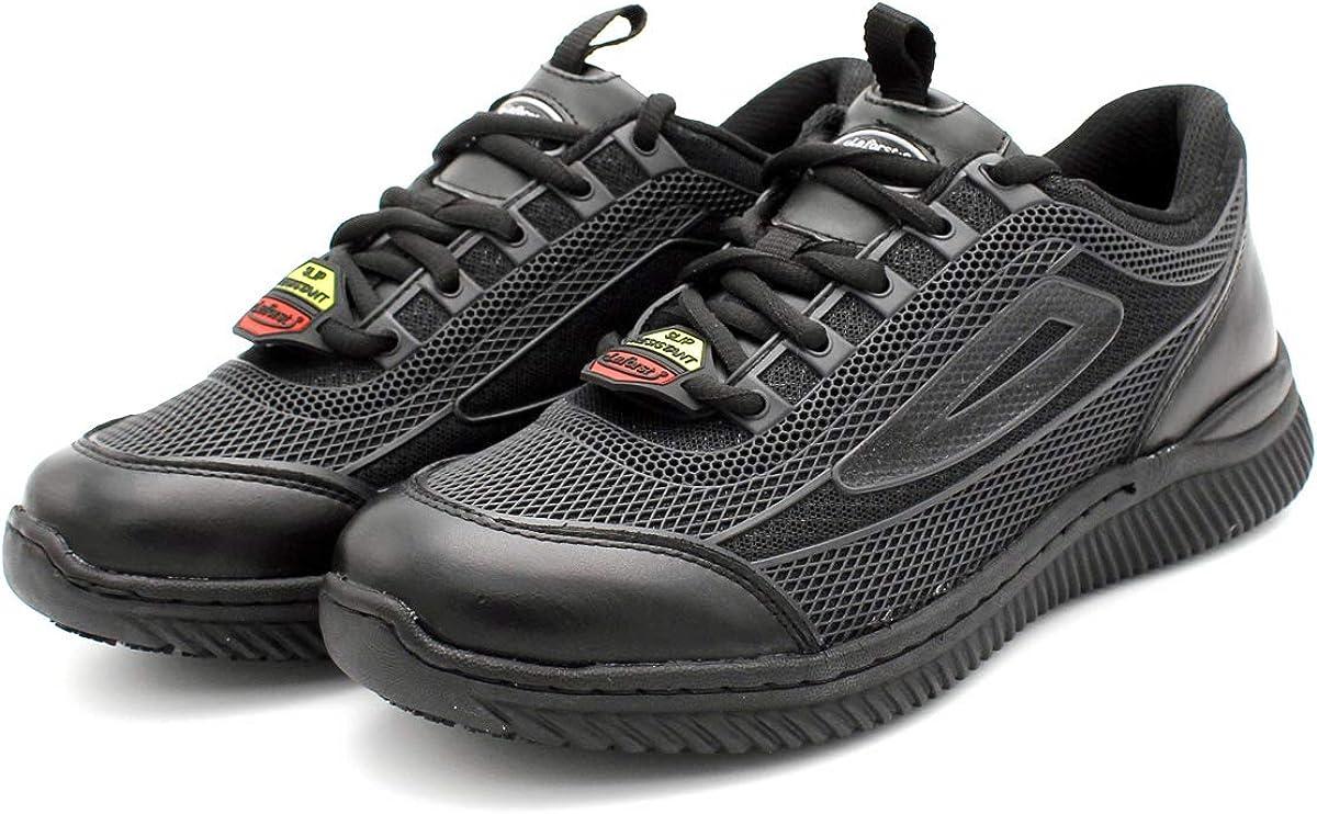 Laforst Womens GP3240 KPU Upper Nonslip Black Fashion Sneakers