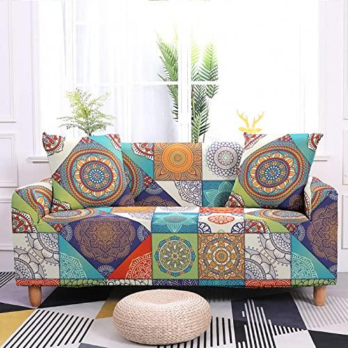 Oukeep Mandala Print Series Funda para Sofá Plantas Y...