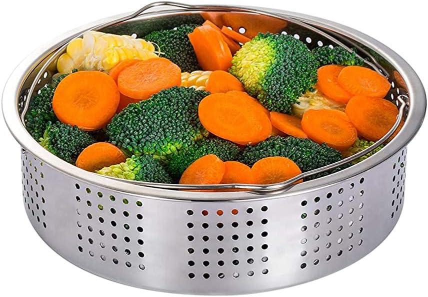 JDV Panier /à vapeur en acier inoxydable pour cuiseur /à g/âteau ou cuisson /à la vapeur Compatible avec lautocuiseur /électrique 21 cm