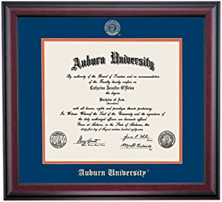 OCM Auburn Tigers Diploma Frame Blue Orange Matting Embossed Seal