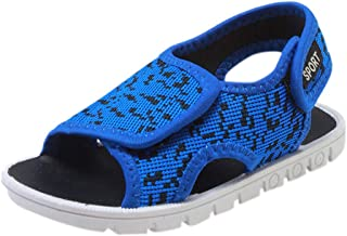 Respctful✿Baby Boys Summer Non Slip Sandals Open-Toe Rubber Sole Beach Water Shoes for Toddler