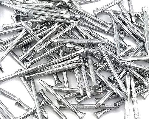 100x Stahlnägel Nägel Geriffelt Gerillt Gehärtet Betonnägel 2.7 x 40