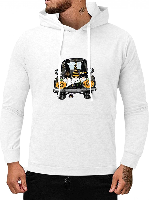 Sweatshirts for Men Lightweight Pullover Hoodies Long Sleeve Hooded Fashion Novelty Halloween Slim Fit Men's Clothing