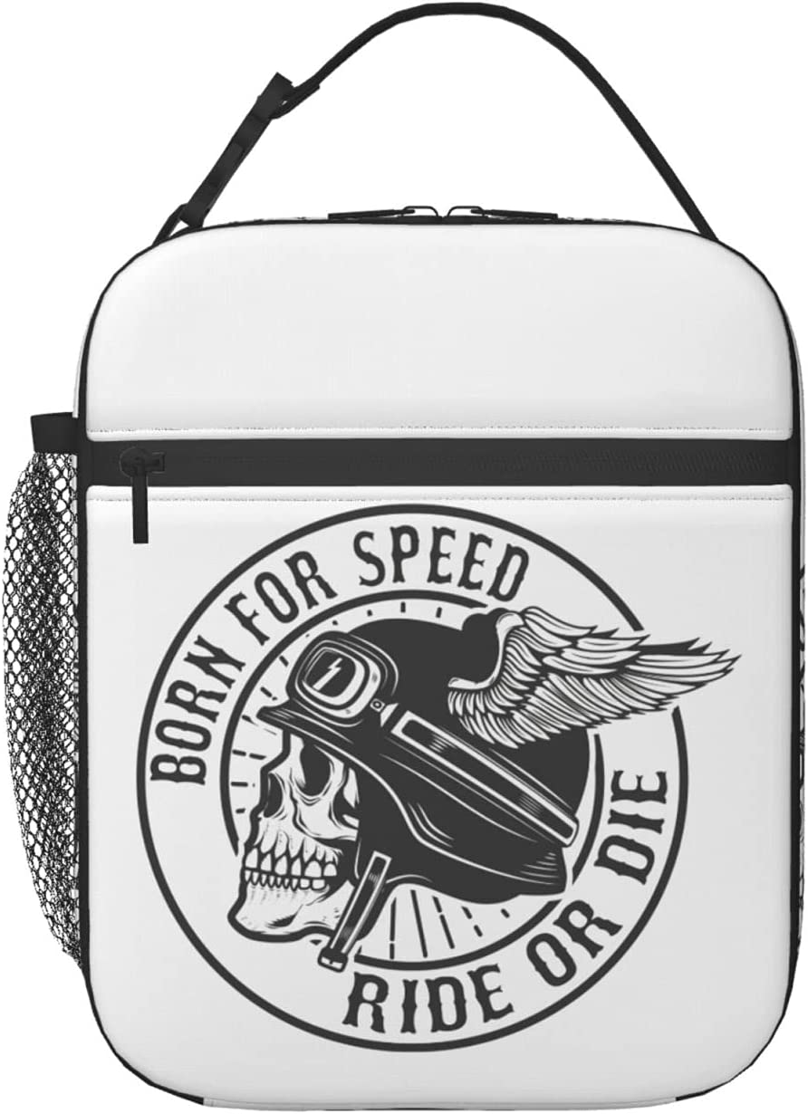 Ride Or Die Regular store Reusable Insulated Lunch Large-scale sale Tote Women Box Bag Men Cute