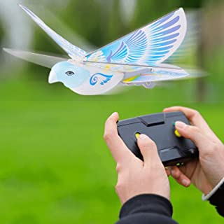 Mopoq Remote Control Induction Child Adult Electric Bird Simulation Flapping Wing Bird 360° Hovering Charging Toy Boy Girl...